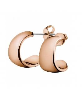 Orecchini Calvin Informal oro rosa - 22 mm
