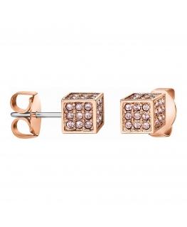 Orecchini Calvin Klein Rocking oro rosa - 6 mm