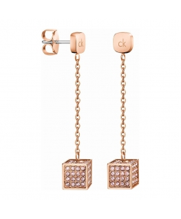 Orecchini Calvin Klein Rocking oro rosa - 4 cm