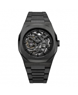 Orologio D1 Milano Automatic Skeleton nero - 42 mm