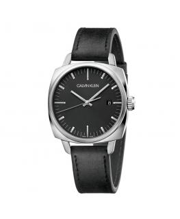 Orologio Calvin Klein Fraternity pelle nero - 39 mm