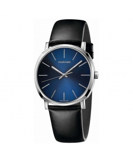 Orologio Calvin Klein Posh pelle blu - 40 mm