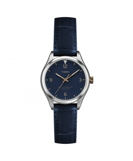 Orologio Timex Waterbury donna pelle blu - 34 mm