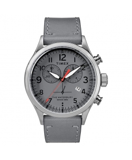 Orologio Timex Waterbury uomo pelle grigio - 42 mm