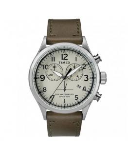 Orologio Timex Waterbury uomo pelle marrone - 42 mm