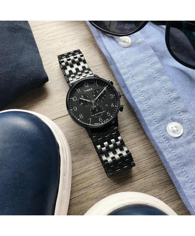 Orologio Timex Waterbury chrono nero - 42 mm - galleria 2