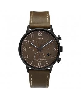 Orologio Timex Waterbury chrono pelle marrone - 42 mm