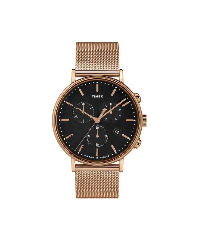 Orologio Timex Fairfield chrono oro rosa - 41 mm - galleria 1