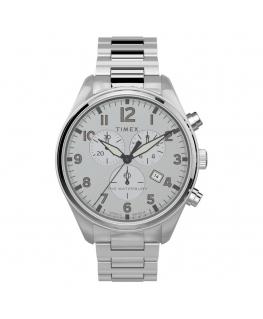 Orologio Timex Waterbury chrono acciaio bianco - 42 mm
