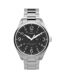 Orologio Timex Waterbury data acciaio nero - 42 mm