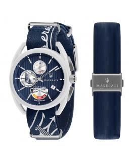 Orologio Maserati Trimarano Yacht timer blu - 41 mm