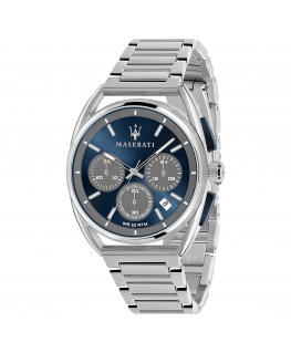 Maserati Trimarano 41mm chr blue& gray dial br ss