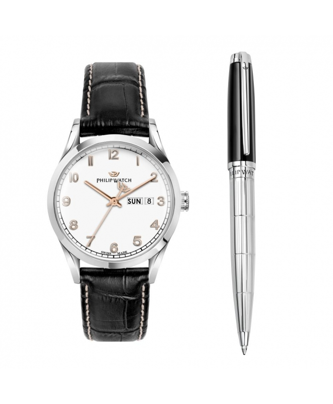 Philip Watch Sunray 39mm r8251180010 + pen j820629 - galleria 1