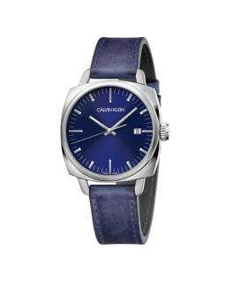 Orologio Calvin Klein Fraternity pelle blu - 38 mm