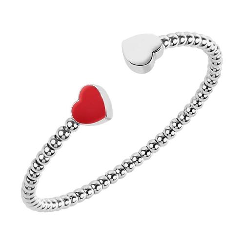 Morellato Enjoy br. cuff boules ss & red hearts