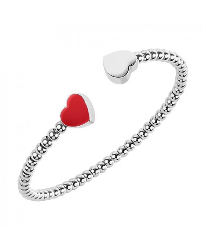 Morellato Enjoy br. cuff boules ss & red hearts - galleria 1