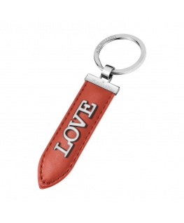 Morellato Keyholder story ss red leather love