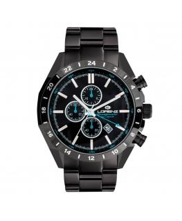 Orologio Lorenz Granpremio GMT uomo nero / blu - 42 mm
