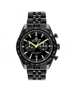 Orologio Lorenz Granpremio Limited Edition nero / giallo - 42 mm