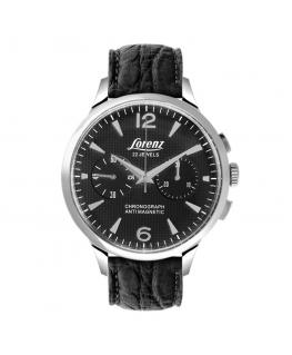 Orologio Lorenz Anniversary Meccanico chrono pelle nero - 42 mm