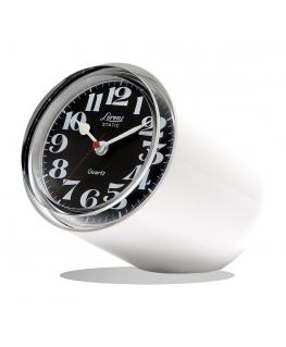 Orologio da tavolo Static Lorenz bianco satinato