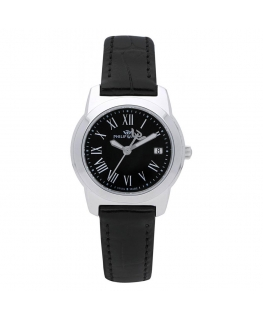 Orologio Philip Watch Timeless donna pelle nero 28 mm