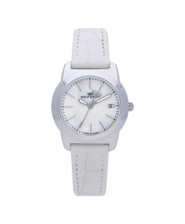 Orologio Philip Watch Timeless donna pelle bianco 28 mm donna