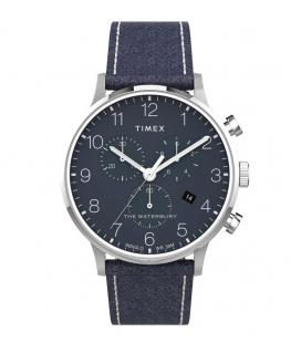 Orologio Timex Waterbury chrono pelle blu - 40 mm