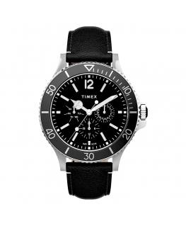 Orologio Timex Harboside multi pelle nero - 43 mm